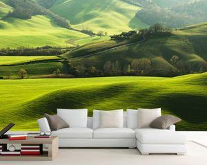 Free Shipping Custom 3D Mural Green Idyllic Scenery TV Sofa Background Wall Living Room Decoration Wallpaper Bedroom Mural