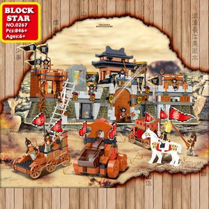 Blockstar Battle Jingzhou Building Castle Blocks Station Model Block Bifficult Bricks For Kid DIY Toys Children's Christmas Gifts