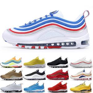 97 Bullet Preto Sean Wotherspoon Mens Mulheres Correndo Tênis Jogging Andando Caminhadas Almofada 97s OG Homens Sneakers Esportes Ao Ar Livre Chaussures