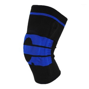 Elbow & Knee Pads Silicone Spring Brace Support Basketball Running Dance Protector Weaving Compression Sleeve For Sport1