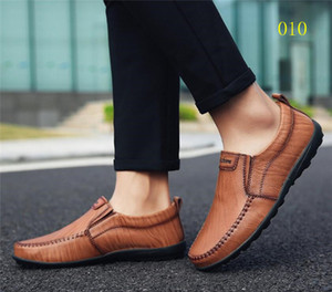 Cuir Noir Hommes Loafer Chaussures Style Classique Slip-On Casual Shoe Casual Robe Pik Bateau Mocassins Soft Bottom Designer Chaussures avec boîte