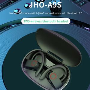 A9S Wireless Bluetooth-Kopfhörer TWS Wirtlos mit 300mAh-Ladetasten Bluetooth V5.0 True Stereo-drahtloses Bluetooth-Headset