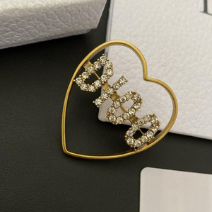 New Ladies Letter Brooch Set Rhinestone Retro Love Clothing Pin Gift Party Jewelry Accessories