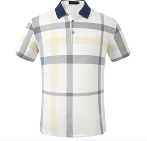 Wholesale Brand Men's Business Casual Tshirt Tshirt Mens de manga larga Rayas Slim Masculina Social Male Camisetas Nueva Moda Hombre Checked Shirt
