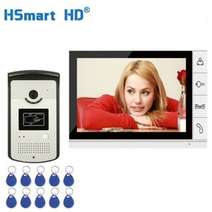9 '' TFT LCD Wired Video Door Phone Video Video Video Intercom Downomphone Intercom System с водонепроницаемым открытым IR RFID Camera1