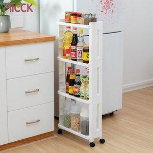 Micck Kitchen Shelf Side Cargo 3/4 Capa Refrigerador Almacenamiento Rack con Ruedas Capa desmontable Capacitación Sujetador de almacenamiento
