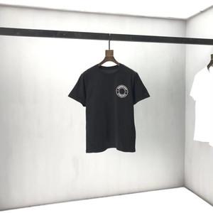 2020SS Spring e Verão Novo Algodão de Algodão de Alta Graia de Alta Grade de Manga Curta Redonda Pank Painel T-shirt Tamanho: M-L-XL-XXL-XXXL Cor: Preto Branco Q96