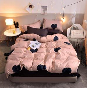 Juego de ropa de cama Azul Euro colcha Cubierta de lujo Duvet de lujo Hojas de cama Doble Ropa de cama Rey Rey Cuna para adultos Ropa de cama30