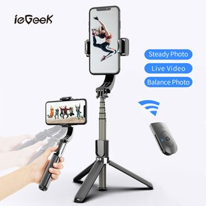 L08 Bluetooth Handheld Gimbal Stabilizer Tripod Mobile Phone Stick Holder Adjustable Wireless Video Record Selfie Stander