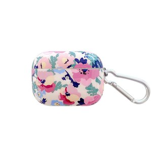 Pink Flower Earphone Case Cover For Wireslress BluetoothSoft Silicone Earphone Headphone Cover For Case For Girls