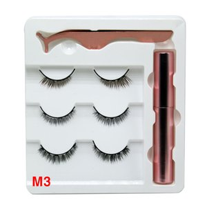 New Design Magnetic Eyelashes 3 Pairs Kit with Eyeliner And Tweezer Reusable 5D Magnetic Lashes No Glue Needed