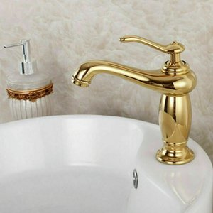 Single Hole Basin Hot Cold Bathroom Wash Basin Faucet Mixer Water Tap 2020 gold