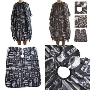 Hairdressing Salon Haircut Coat Hair Drier Comb Wine Glass Pattern Shoulder Cloth Barber Shop 120*140cm Cutting Cape 4 5yn M2