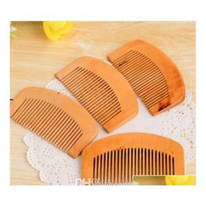 200pcs Cheap Comb Natural Peach Wooden Comb Beard Comb Pocket Hair qyllDm sweet07