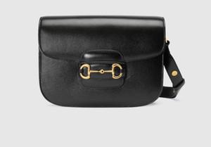 Bolsos de diseño de lujo en forma de bolsas de cuero real acolchadas bolsas de cuero de la cadena de hombro de cadena de gran capacidad 1955 Retro Hebilla de caballo Bolsa de correa de hombro