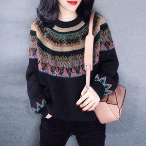 XK12894 мода женские свитера 2021 взлетно-посадочная полоса роскошный европейский дизайн вечеринка стиль женской одежды