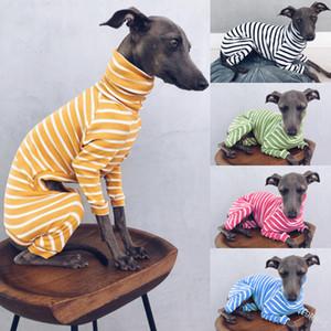 Dog-Streifen 2020 Fashion Bekleidung New Four Corner Hundekleidung hoher Kragen Warm Hundekleidung