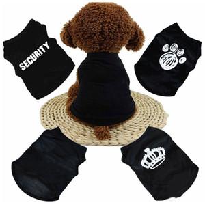 الصيف الكلب الملابس الملابس القط سترة صغيرة سترة الحيوانات الأليفة توريد الكرتون الملابس تي شيرت ل جرو تشيهواهوا رخيصة بذلة الزي YHM186