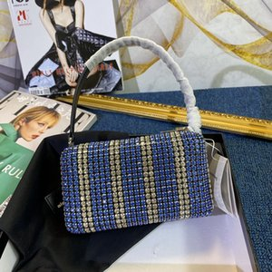 Womens Luxury Designer Purses Handbags Best Quality Diamond Shiny Small Square Bag Wang Evening Fashion Handbag