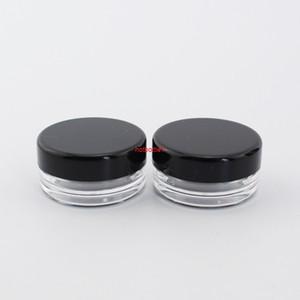 Plastik Temizle Katı Konteyner Küçük Örnek Krem Kavanoz Yüksek Kaliteli Boş Kozmetik Şişe Siyah Vidalı Kapak 2Ghigh Kaliteli