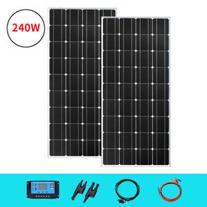 2020 New 120W 18V Solar Panel Monocrystalline Solar Cells 12V 24V Battery Charging For Camping Boat RV Travel Home