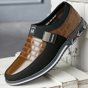 2019 New Men&#39s Shoes Breathable Sets of Feet Across The Foot A Pedal Extra Large Size Men&#39s Shoes