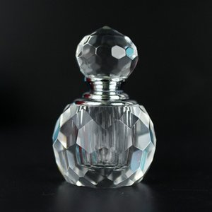 Art Clear Crystal Glass Perfume Bottle Essential Oil Essence Liquid Fragrances Refillable Makeup Tool Cosmetic Container Party Gift
