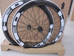 HED JET CLINCHER BICICLETE Wheels de aleación de carbono 700C Aluminio Fibra de carbono carretera Bike Racing Wheelset 50mm