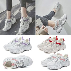 2020 Designer Sneakers Fashion Triple White Pink Purple Red Adorn Comfortable Breathable Trainer Sport Women Running Shoes Size 35 -4