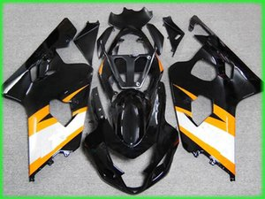 Custom 1000% Fit Injection mold yellow black AD25 fairing kit for 2004 2005 SUZUKI GSXR 600 750 K4 GSXR600 GSXR750 04 05 gsx r750 fairings