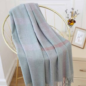 Japanese small fresh plaid scarves Korean fashion winter long section of wild soft sister student literary shawl winter scarf