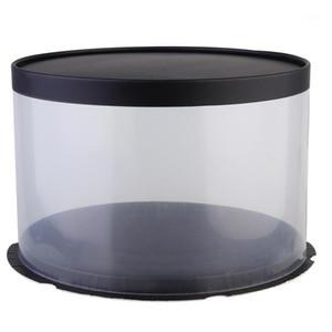 Complet cadeau 1 PC Boîtes en plastique Boîte à gâteau Couvercle en papier pour emballage de mariage (27 * 27 * 17cm) 1