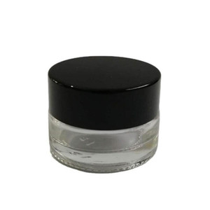 500 x 3G Traval pequeno creme compõem frasco de vidro com tampas de alumínio branco PE pad 3cc embalagem cosmética jar FWD3169