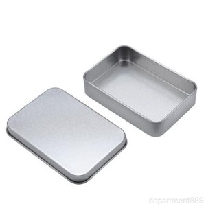 Plain silver tin box 88mm*60mm*18mm rectangle tea candy business card usb storage boxes case sundry organizer DHD2966