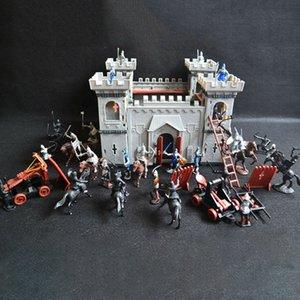 Cayset Model Building Histoire au Royaume-Uni Histoire médiévale Enfants Décoratifs Home Soldats Développement DIY Développement Castle Set Toy Knights Game Accessoire C0119