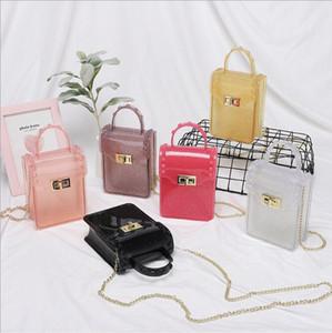 Women Handbag Women Clear Jelly Bags Solid Color Single Shoulder Cross-Body Bag Women Mini Handbags Fashion Bags Accessories 11Colors XTL149
