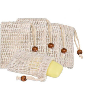 Sapone sapone naturale ramie maglia bar sapone sapone sapone borsa con coulisse supporto pelle pelle pulizia coulisse per asciugatura sapone sapone sacchetto di stoccaggio sacchetti GWC5290