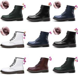 Плюс размер EUR48 зимние снежные ботинки для женщин утолщение хлопчатобумажных плюшевых кружевных домов снег середины теленка сапоги 2020 новый индивидуальный, хаки, белый # 5813222