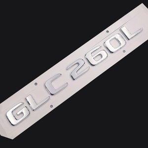 Original Size 1:1 Car rear tail Emblem Number letters Car Sticker For Mercedes Benz GLC260L GLC 260L Chrome Silver  Matte Black