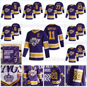 Los Angeles Kings 2021 Reverse Retro Jersey Anze Kopitar (c) Drew Tugty Dustin Brown Clifford Alex Jeff Carter Jonathan Quick Martin FRK