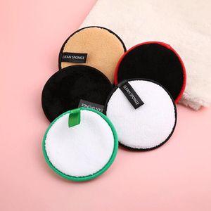 New Round Reusable Microfiber Women Facial Cloth Magic Face Towel Makeup Remover Towel Cleaning Wash Towel Random pick