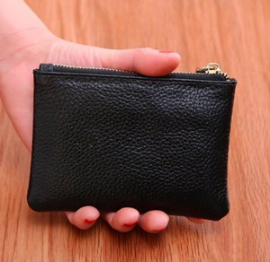 Mini Wallet Men Women Leather Purse Solid Color Simply Coin Key Pocket Wallets Card Coin Storage Purse Durable Unisex Wallet GWC4061