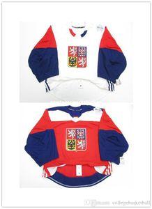 Cheap wholesale custom CZECH REPUBLIC WHITE RED WORLD CUP OF HOCKEY JERSEY GOALIE CUT Mens Stitched Personalized hockey Jerseys