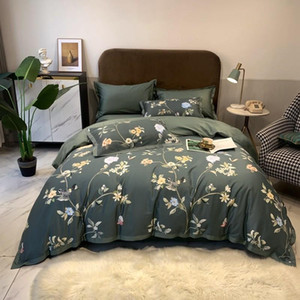 Vintage Style Birds Leaves Chic Comforter Cover Set Ultra-Soft Egyptian Cotton Bedding set Duvet Cover Bed Sheet 2 Pillowcases