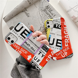 INS Street UE label license plate Ticket barcode silicone Phone case for iPhone 11 Pro X XS MAX XR 7 8 plus soft back cover