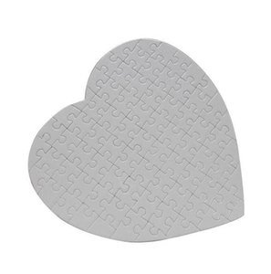 Blank Heart Shaped Puzzles 75pieces Sublimation Blank Pearl Jigsaw DIY Puzzle Wedding Birthday Valentine's Day Party Favor Gift