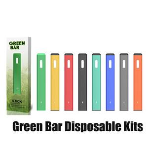Authentic Green Bar Disposable Vape Pen Rechargeable 280mAh 1.0ml Vaporizer for Thick Oil Vapor Pod Starter Kit by OVNS