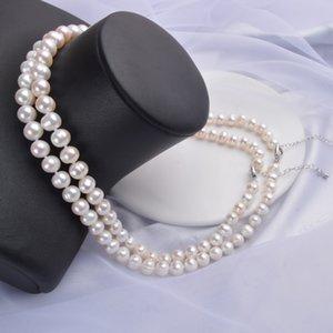 Collar natural Ashiqi de agua dulce cerca de joyería de perlas redondas mujeres regalos de boda para el Año Nuevo 2020 Trend TRJ1