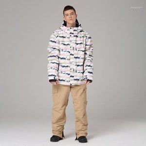 ski suit men warm ski jacket + snowboard trousers male waterproof outdoor jacket men's winter snowboarding suit1