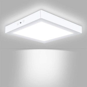 LED Flush Mount Ceiling Light, Square Surface Mounted Panel Lamp, Non-Dimmable AC85-265V, 150° Beam Angle, Lighting for Home,Bedroom, Pantry